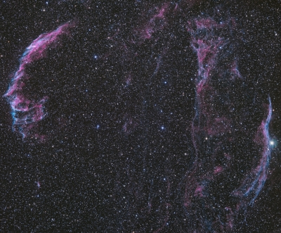 The Veil Nebula from BMV Observatories